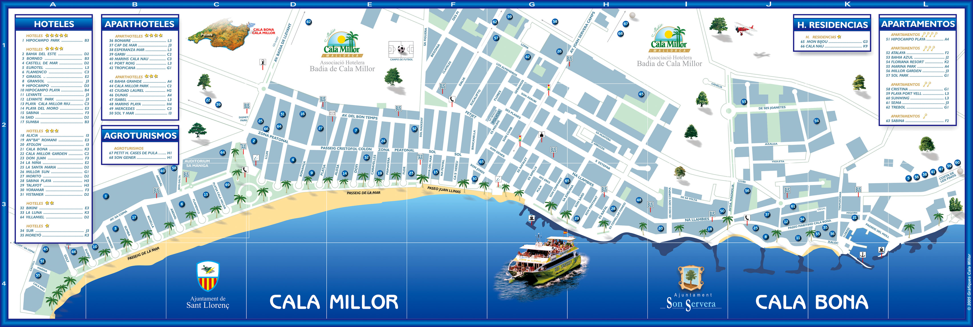 Millor Maps and Brochures