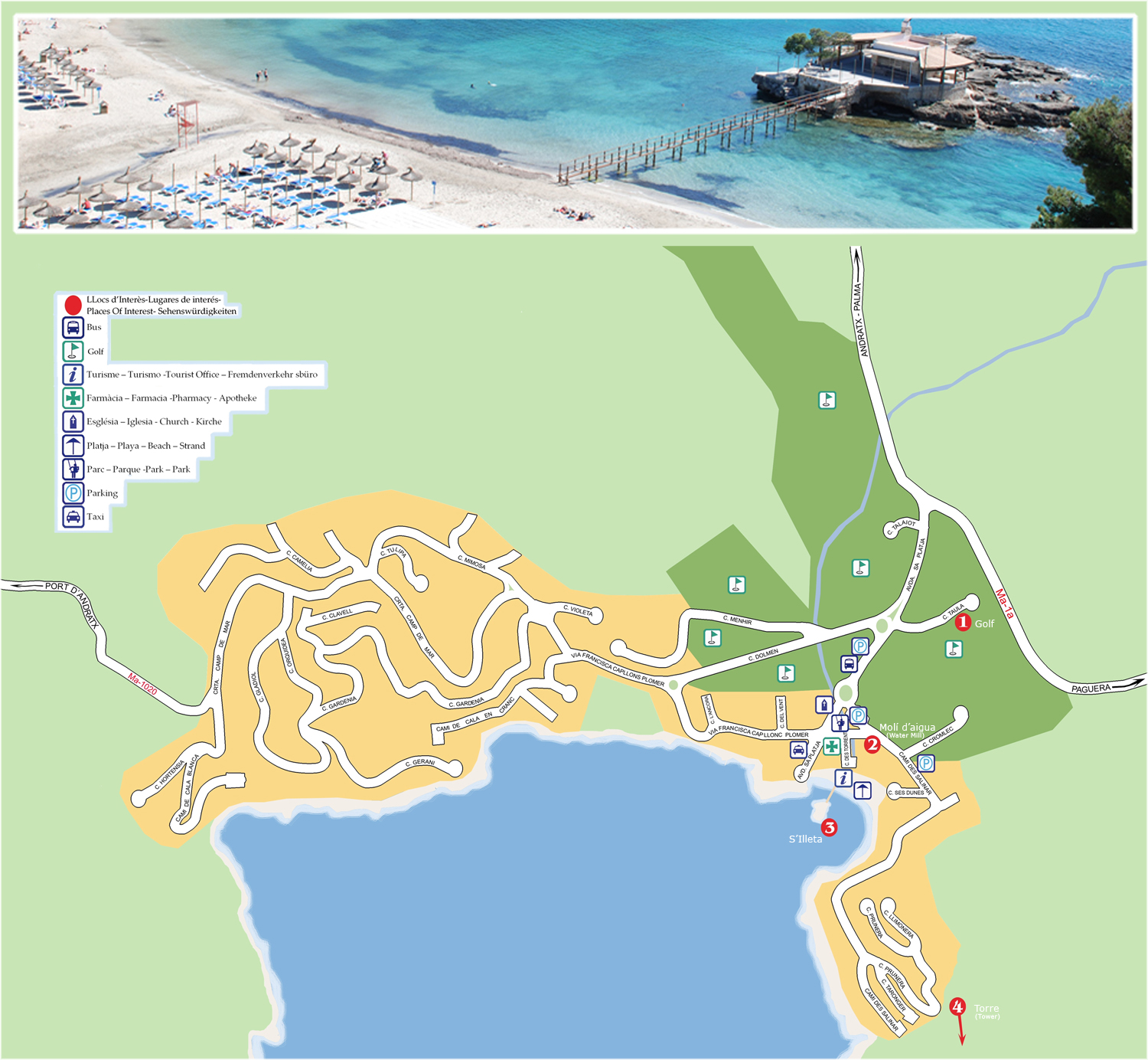 Camp de Mar Maps and Brochures