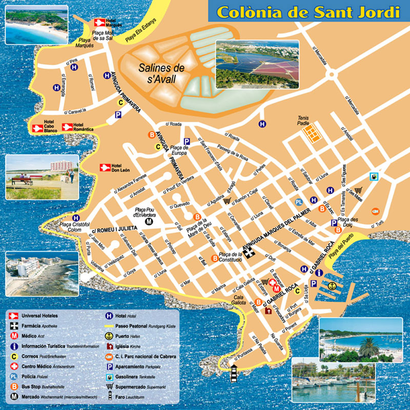 Colonia Sant Jordi Maps And Brochures