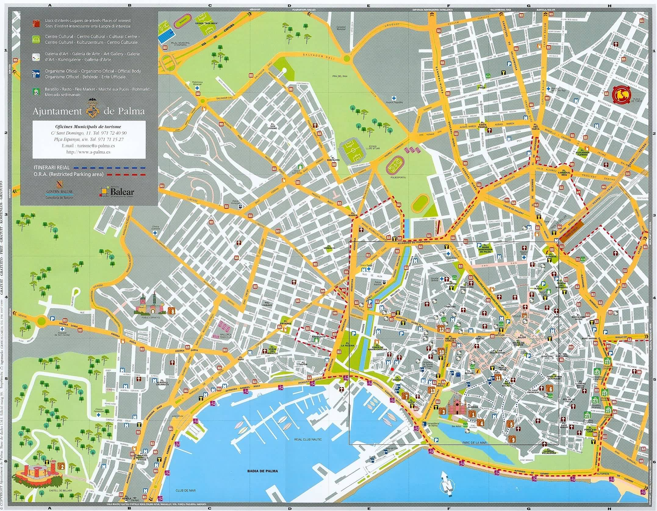 Palma de Mallorca Maps and Brochures