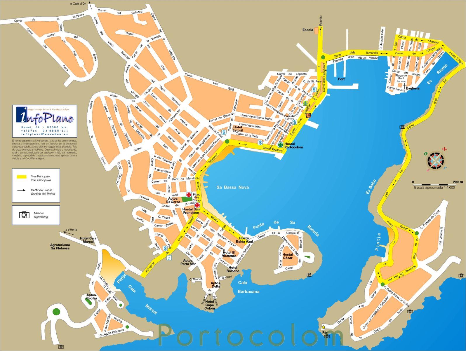 Porto Cristo Karte.Porto Colom Maps And Brochures