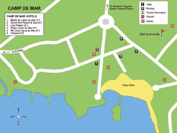 Camp de Mar Street Map and Travel Guide