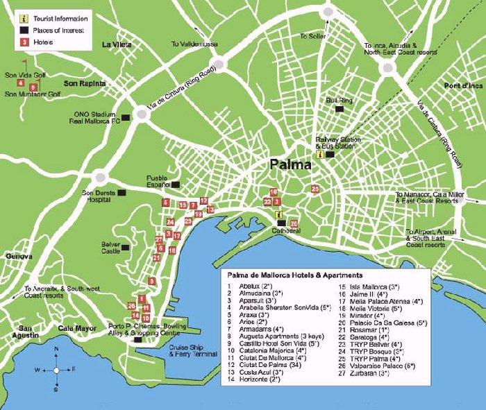 Palma de Mallorca Street Map