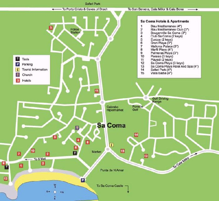 Sa Coma Street Map and Travel Guide