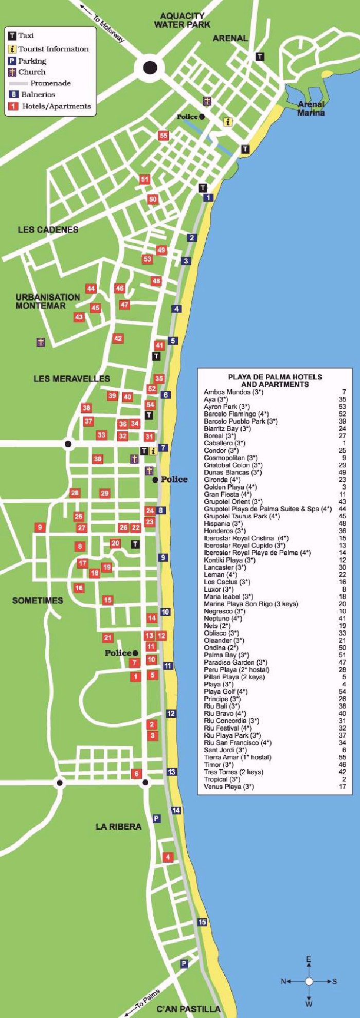 playa de palma karte Playa de Palma Street Map and Travel Guide playa de palma karte